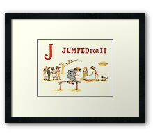 Kate Greenaway 1886 a apple pie J Jumped for it Framed Print
