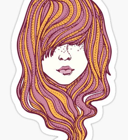 Her hair Sticker