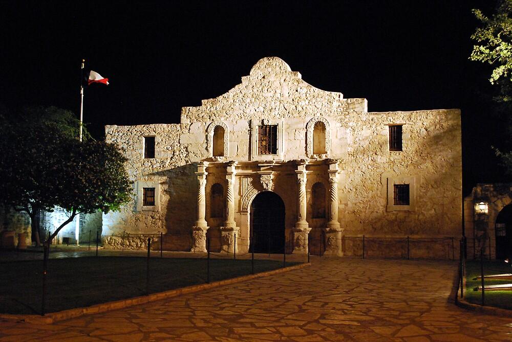 The Alamo at Night by Gregory Ballos | gregoryballosphoto.com