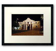 The Alamo at Night Framed Print