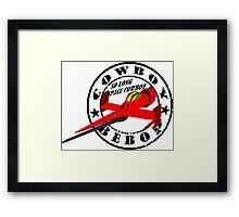 Cowboy Bebop - Swordfish (Old Stamp Style) Framed Print