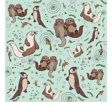 Sea Otters Photographic Print