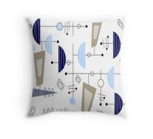 Atomic Era Space Age Inspired Throw Pillow