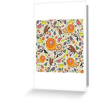 Monkeys and Fruit Greeting Card