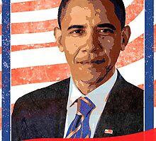 President Barack Obama Inauguration Poster by campphotoshop
