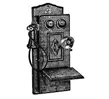 Telephone old school Photographic Print