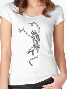 Dancer skeleton Women's Fitted Scoop T-Shirt