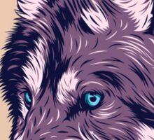Blue eyed wolf Sticker