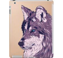 Blue eyed wolf iPad Case/Skin