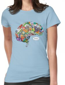 Pixelated Memories Womens Fitted T-Shirt