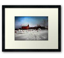 """"""" Red Shelter """" Framed Print"""