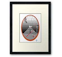 TEST CHAMBER  Framed Print