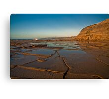 Blue reflections of Bar Beach Canvas Print