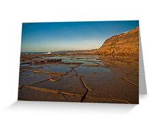 Blue reflections of Bar Beach Greeting Card