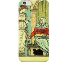 The Sleeping Beauty Picture Book Plate 001 - Long Ago In Ancient Times iPhone Case/Skin