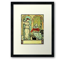 The Sleeping Beauty Picture Book Plate 001 - Long Ago In Ancient Times Framed Print