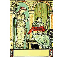 The Sleeping Beauty Picture Book Plate 001 - Long Ago In Ancient Times Photographic Print