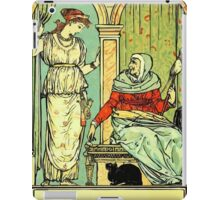 The Sleeping Beauty Picture Book Plate 001 - Long Ago In Ancient Times iPad Case/Skin