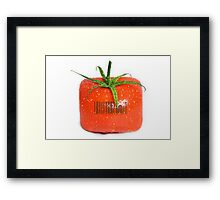 Square Tomato with a barcode. Framed Print