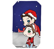 Misha Collins & Jensen Ackles - Christmas Cockles Photographic Print