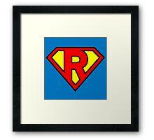 Super R Framed Print