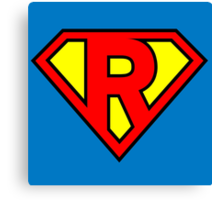 Super R Canvas Print