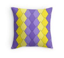 Purple-yellow Diamonds Throw Pillow