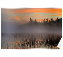 Sunrise on Connery Pond, Lake Placid, Adirondack Mountains Poster