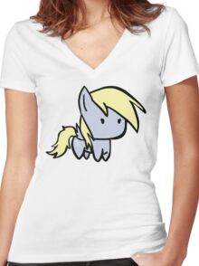 derpy Women's Fitted V-Neck T-Shirt