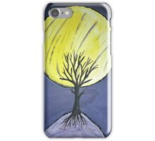 Tree in the moonlight. iPhone Case/Skin