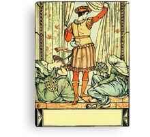 The Sleeping Beauty Picture Book Plate - He reached the guard, the court, the hall Canvas Print