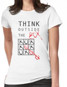 THINK OUTSIDE THE BOX Womens Fitted T-Shirt