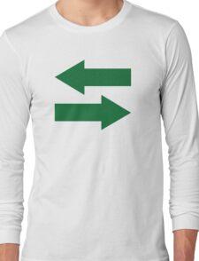 Green arrows Long Sleeve T-Shirt