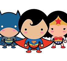 The Cute Justice League by Adriana Cruz Berdecia