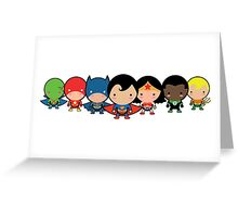The Cute Justice League Greeting Card