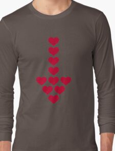Red hearts arrow Long Sleeve T-Shirt