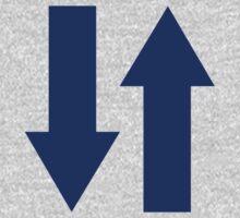 Blue arrows One Piece - Long Sleeve