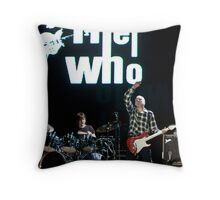 Pete Townshend Young and Old Throw Pillow