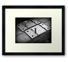 Railroad Spikes and Tie Framed Print
