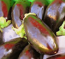 Aubergines by polz