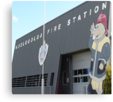 Fab Firestation Canvas Print