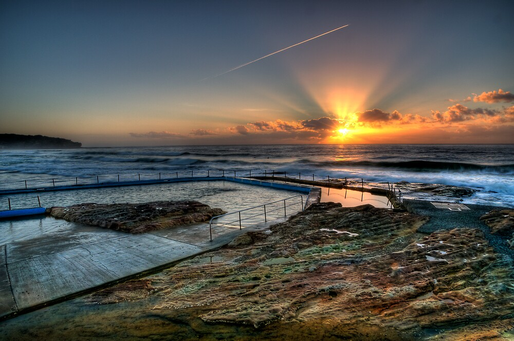 Sunlit Jetstream - South Curl Curl Sunrise by Jason Ruth