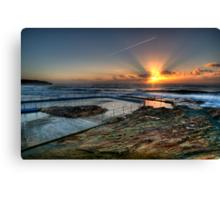 Sunlit Jetstream - South Curl Curl Sunrise Canvas Print