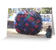 square ball Greeting Card