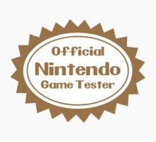 Official Nintendo Game Tester Kids Clothes