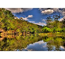 Let Us Reflect - Hacking River - Royal National Park - The HDR Experience Photographic Print