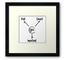 You is kind, you is smart, you is important Framed Print