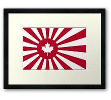 Japan / Canada Flag Mashup Framed Print