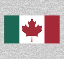 Canada / Italy Flag Mashup  by Phneepers