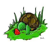 Turtle loves Strawberries  by amandabreach